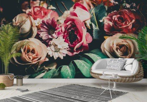 Фототапет Текстилни цветя
