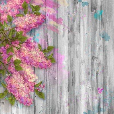 Фототапет Акварелни цветя