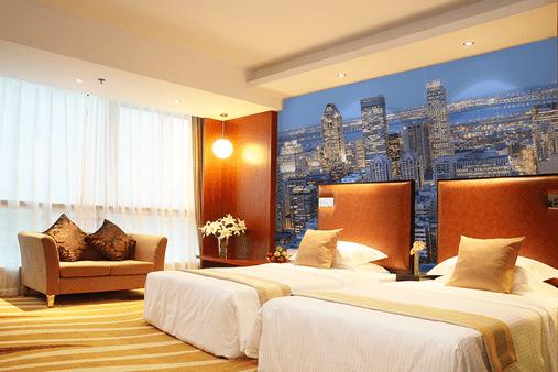 Фототапет в хотел с двойни легла