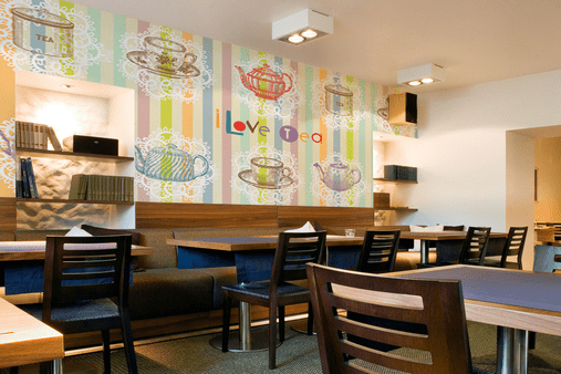 Фототапет в кафене